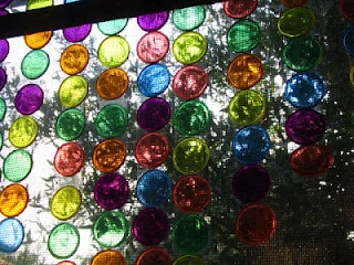 Cascading rainbow sun catchers.... ridiculously easy for kids to make and ridiculously pretty!! They project color when in the sun!!