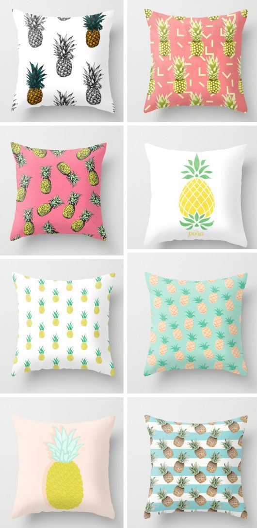 I love these pineapple pillows- they are so summery and tropical! My favourite is the third one down in the right, gorgeous! BR x