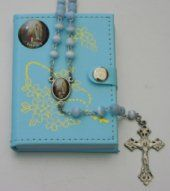 First Holy Communion Blue Rosary.
