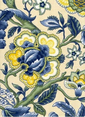 """Imperial Dress Porcelain  over at HouseFabric.  Wow, if I had the money I'd buy this.  54"""" wide 85%cotton 15%viscose."""