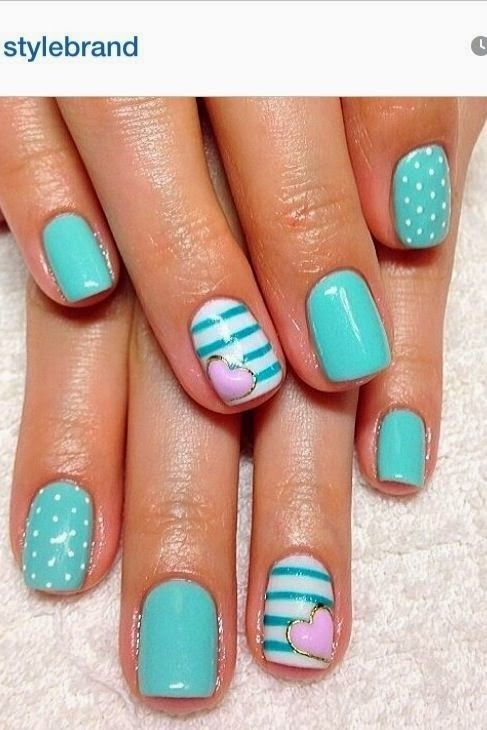 15 Teal Nail Designs - Best 25+ Teal Nail Designs Ideas On Pinterest Tribal Nail