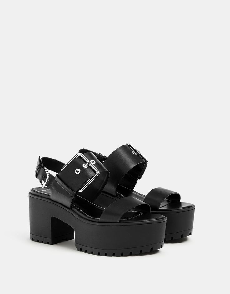 Sandales plateforme boucle