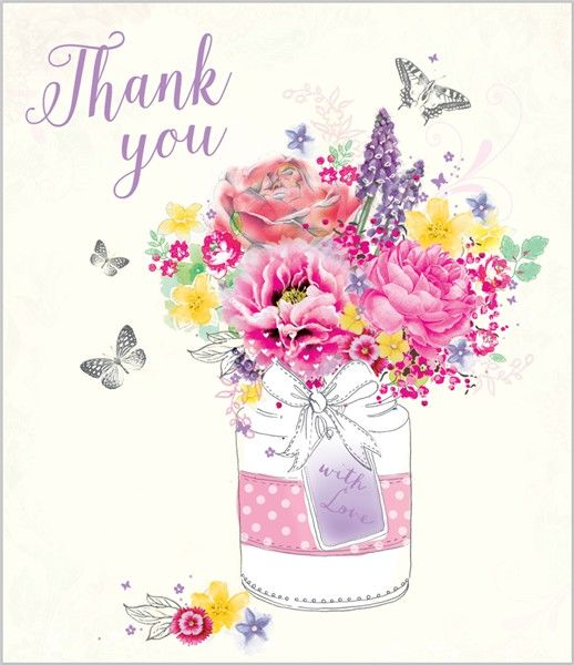 48 best thank you cards images on pinterest card birthday thank card ranges 7381 thank you cottage blooms abacus cards greetings cards m4hsunfo Images