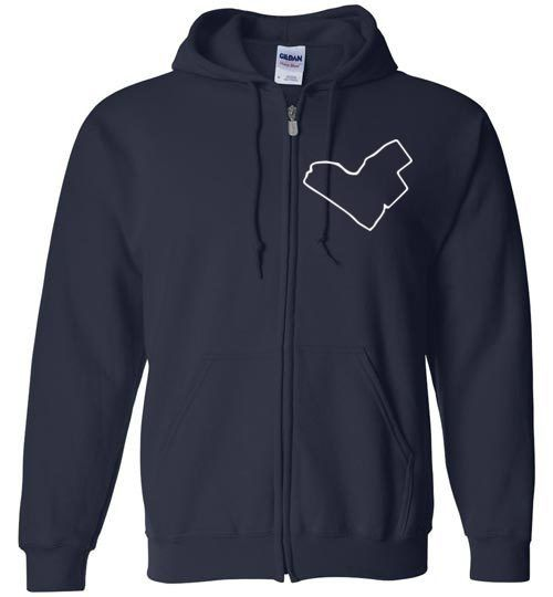 Heart This City Zip Hoodie