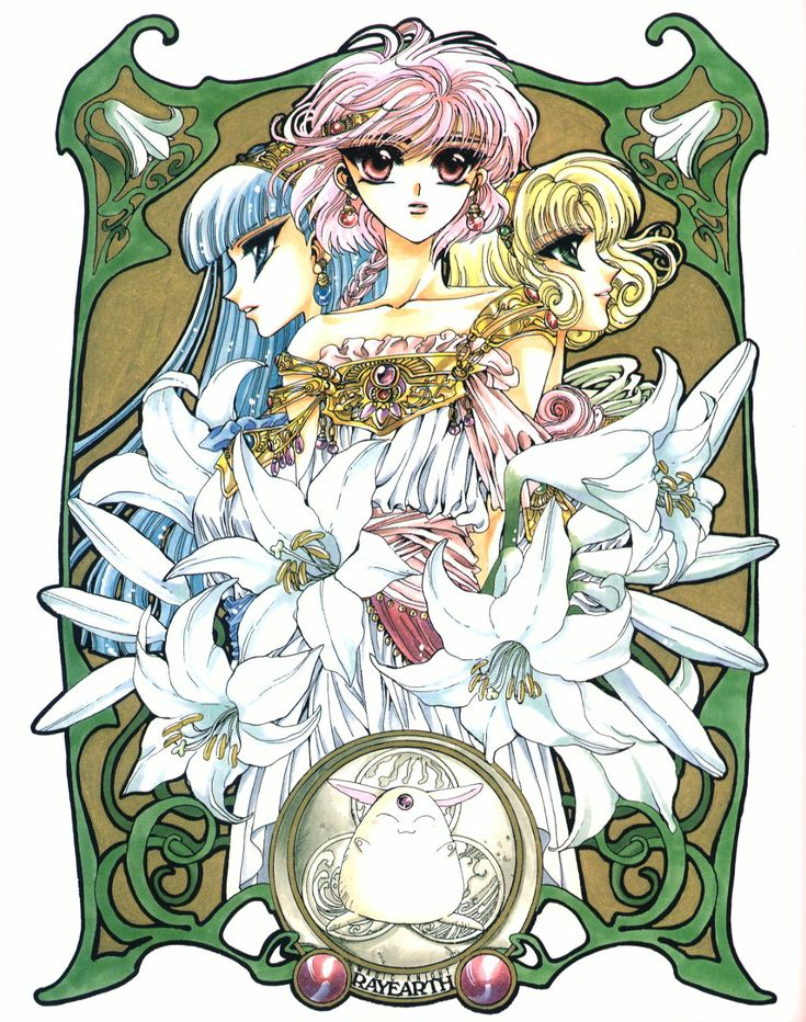 CLAMP - Magic Knight Rayearth 【Marine Lucy, Anne & Mokona】