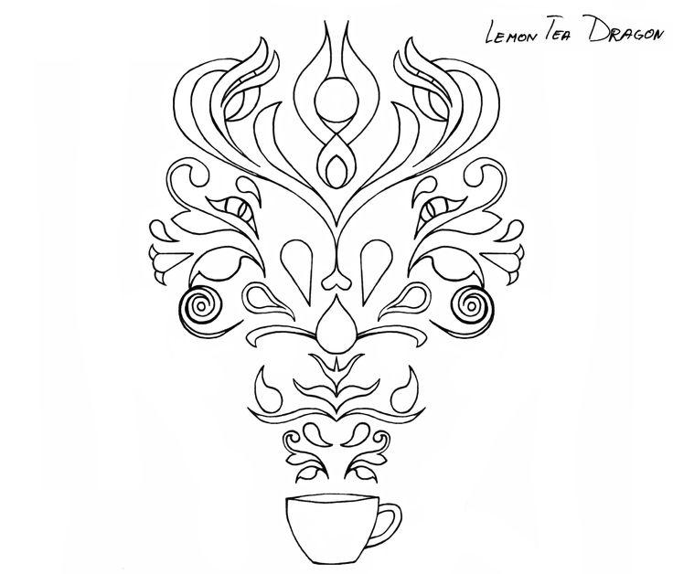 lemon, tea, dragon