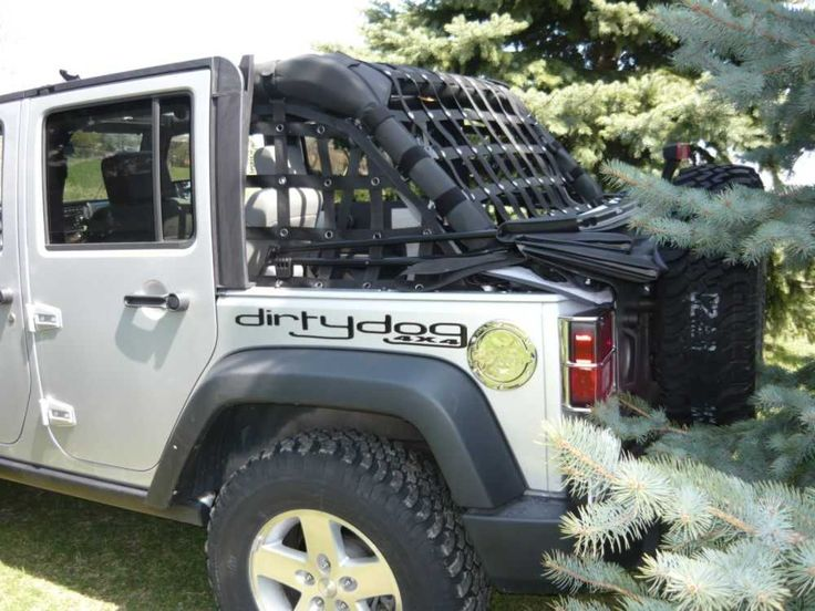 Dirtydog 4x4 Jeep Accessories Netting For Jeep Wrangler