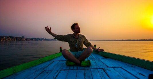 Some meditation at the Ganga River