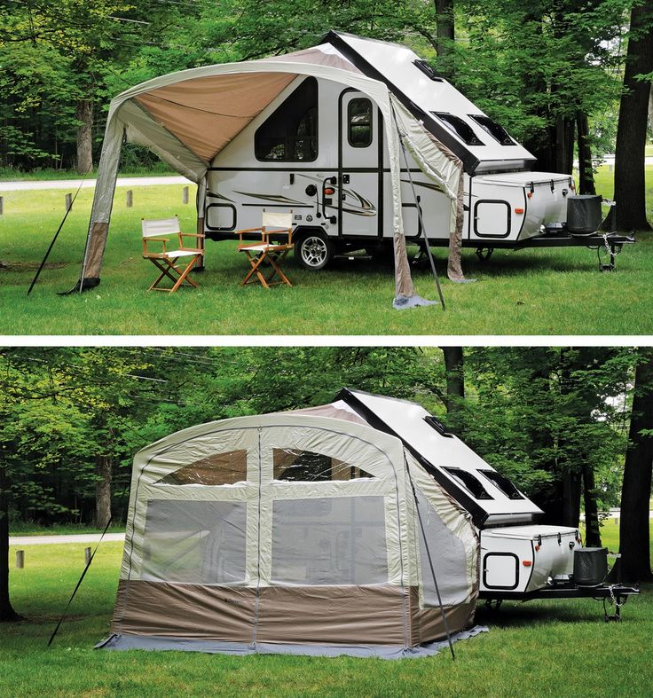 Inspired Picture Of Rv Camper Awning Vinyl Canopy