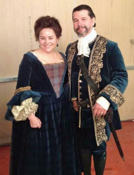 DG and Ron D. as Mr. and Mrs. McTavish from episode 104  | from Outlander costume designer Terry Dresbach's blog