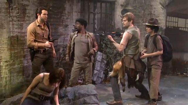 Racial Walking Dead Parody Featuring Comedian Kevin Hart on SNL