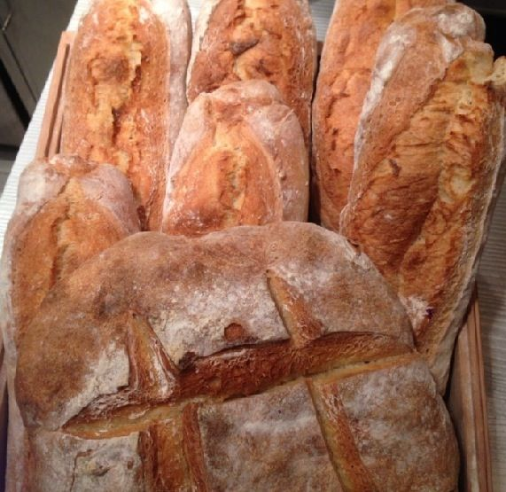 Homemade bread at Marechiaro Pizza