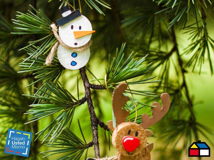 ¿Cómo hacer adorno navideños? #arbol #Navidad #Sodimac #HUM #DIY #HagaloUstedMismo