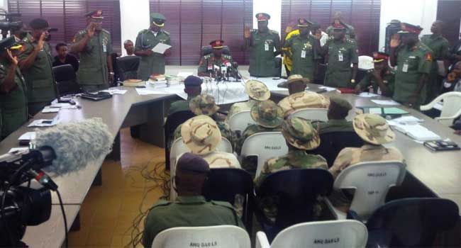 Photo: Court Martial Sitting In Borno Sends Three Soldiers To Jail For Illegal Possession Of Arms And Ammunition http://ift.tt/2w0Q1yS