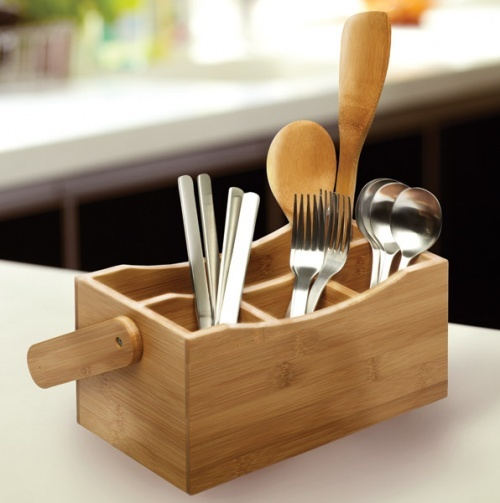 Bamboo Kitchen Caddy.