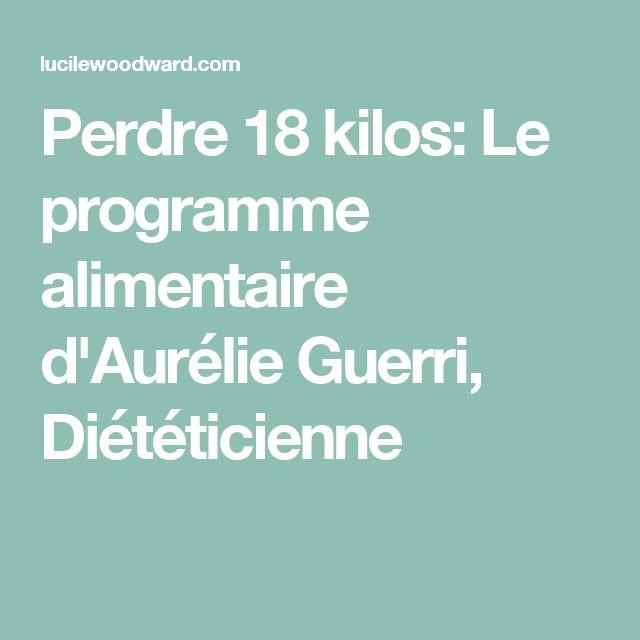Perdre 18 kilos: Le programme alimentaire d'Aurélie Guerri, Diététicienne