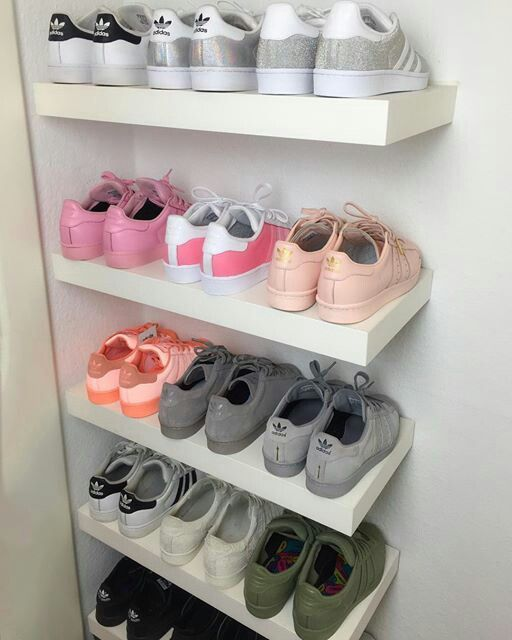 sports shoes 7e696 75d2c Pin by Nicole da Silva on Storage ideas in 2018   Pinterest   Adidas shoes, Adidas  shoes women and Shoes
