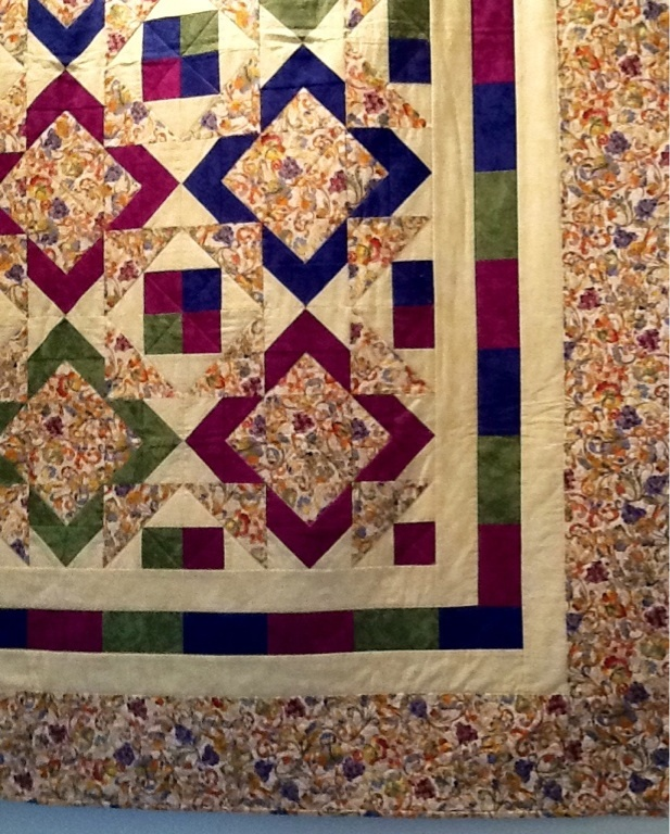"""Quilt called """"Flights of fancy"""". Design by Michele Crawford."""