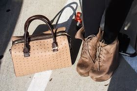 Brown shoes and bag