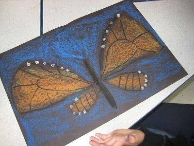 Monarch Butterflies with Oil Pastel   TeachKidsArt