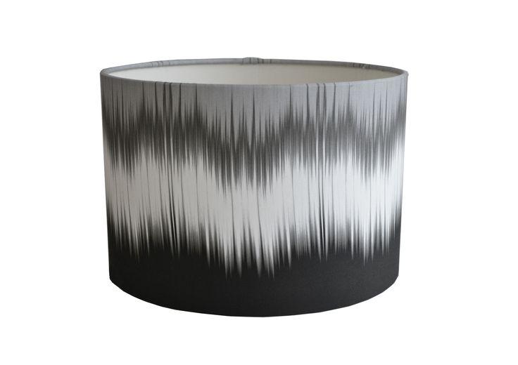 Monochrome ikat Drum lampshade