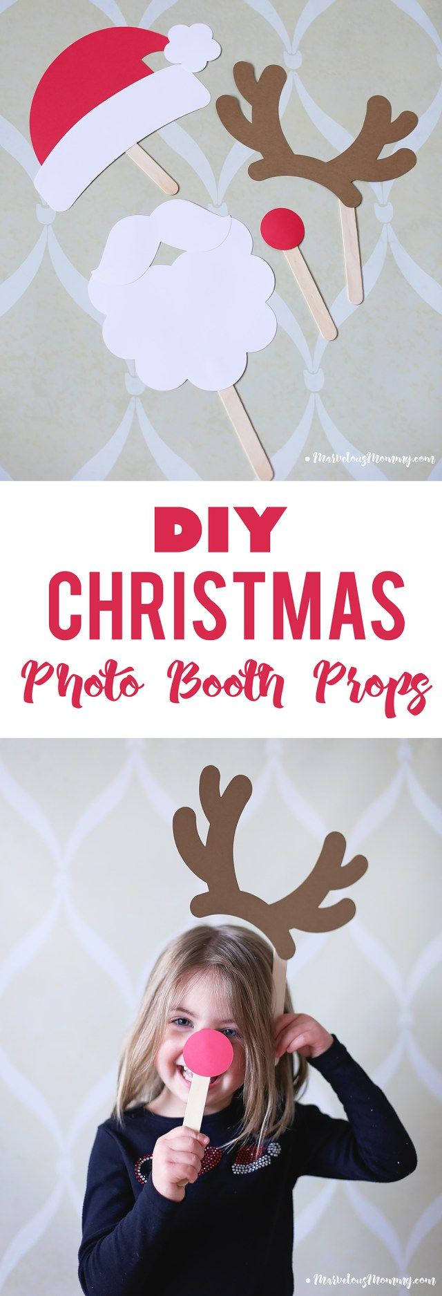 DIY Chrismtas Photo Booth Props + Silhouette CAMEO® Giveaway!