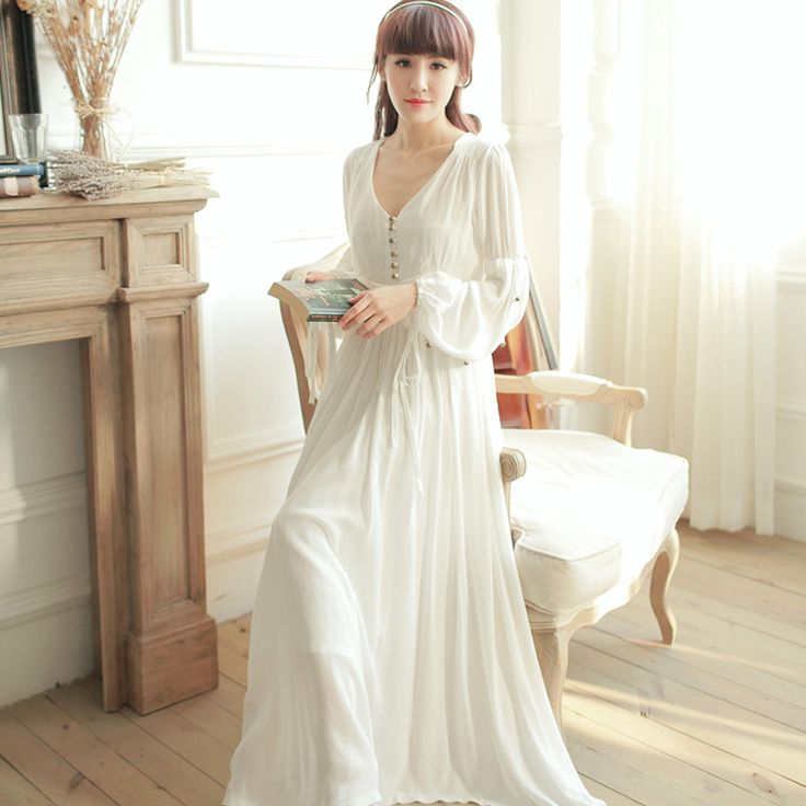 Cheap Nightgowns & Sleepshirts on Sale at Bargain Price, Buy Quality vintage sleepwear, princess nightgown, nightgown white from China vintage sleepwear Suppliers at Aliexpress.com:1,Decoration:Beading 2,Sleeve Length:Full 3,Item Type:Nightgowns 4,Gender:Women 5,Brand Name:Rose Tree