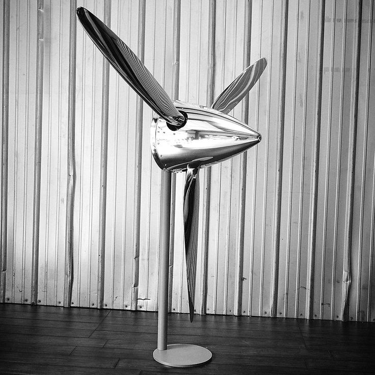 """74"""" SILVER DRAGON 3 Bladed Mirror Polished Chrome Metal Aviation Art  Industrial Airplane Propeller by planepieces on Etsy https://www.etsy.com/listing/189050171/74-silver-dragon-3-bladed-mirror"""