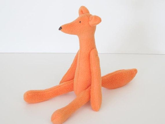 Stuffed Fox toy orange softie plush fox soft by #HappyDollsByLesya