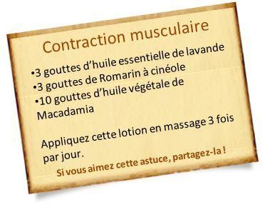 huile essentielle de lavande contraction musculaire