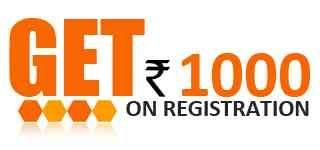 Get Rs. 1000 coupons on first registration.