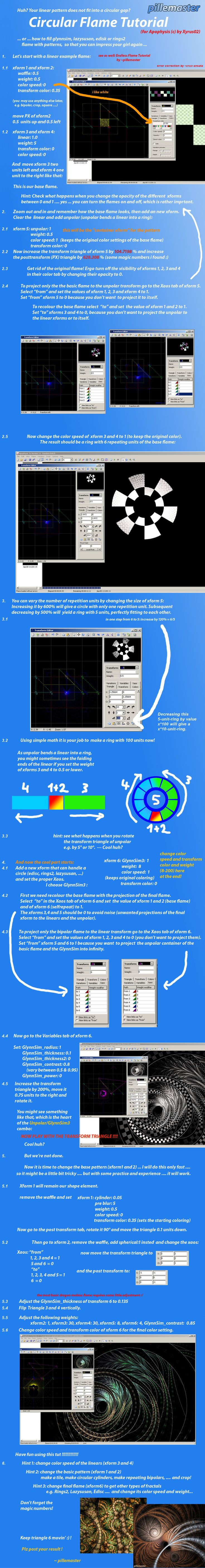 Circular Flame Tutorial or Unpolar+GlynnSim by pillemaster on DeviantArt