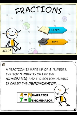 fraction app..great for kids!! I know some adults who need help with fractions too!! :)