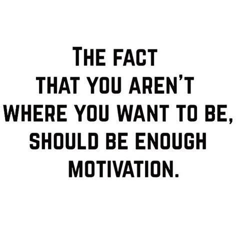 A little reminder to get you through your mid week slump! Always strive to be better than you were yesterday- in all areas of life