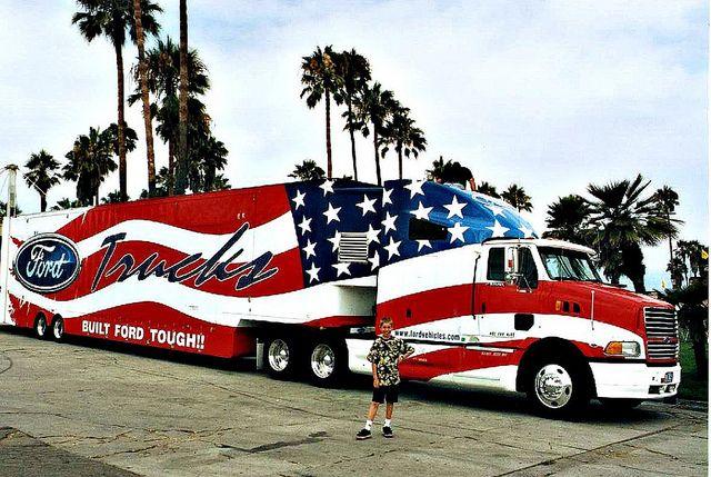 ford american flag truck custom rigs big trucks custom paint pinterest red white blue. Black Bedroom Furniture Sets. Home Design Ideas