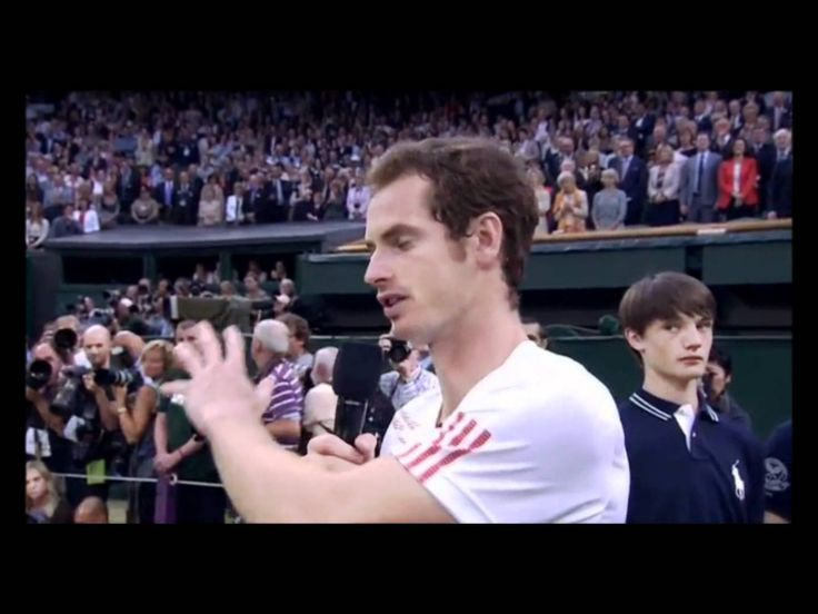 Andy Murray's Emotional Wimbledon Final Speech - 2012......WONDERFUL...REAL...........MAN...