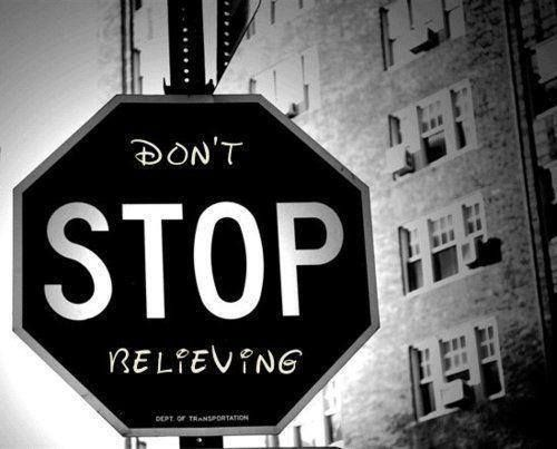 don't stop belevig