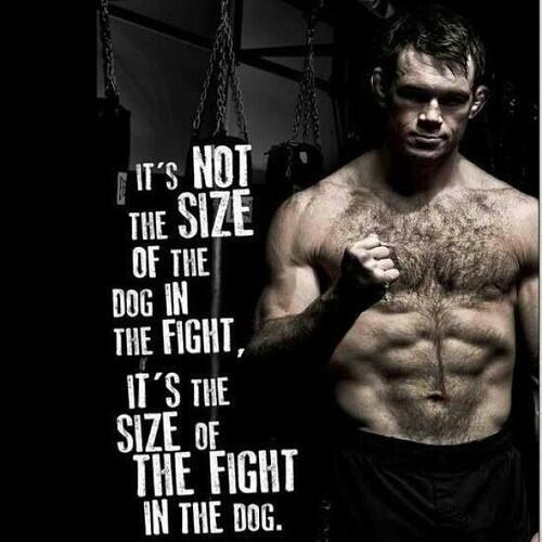 it's not the size of the dog in the fight, it's the size of the fight in the dog