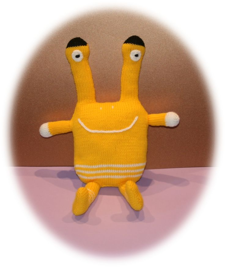 Doudou monstre jaune