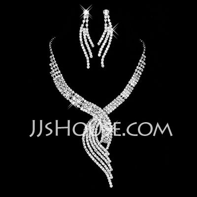 Jewelry - $27.99 - Gorgeous Alloy With Rhinestone Women's Jewelry Sets (011027615) http://jjshouse.com/Gorgeous-Alloy-With-Rhinestone-Women-S-Jewelry-Sets-011027615-g27615