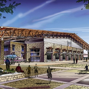 A great rendering of WestWorld of Scottsdale Redevelopment. Designed by GH2 Equine Architects.