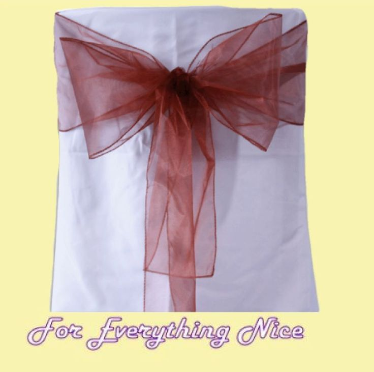 For Everything Genealogy - Copper Organza Wedding Chair Sash Ribbon Bow Decorations x 100, $235.00 (http://foreverythinggenealogy.mybigcommerce.com/copper-organza-wedding-chair-sash-ribbon-bow-decorations-x-100/)