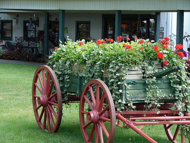 84 Best Images About Flower Wagons On Pinterest Planters
