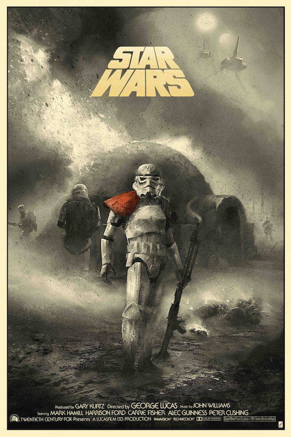 Star Wars - A New Hope Poster by Karl Fitzgerald, via From up North