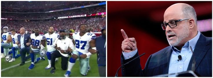 """On Monday, nationally syndicated radio talk show host, author and political commentator Mark Levin took to social media in a note about the National Football League's (NFL) kneeling protests, saying, """"This isn't about free speech."""""""