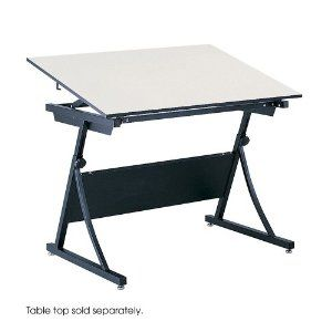 Safco - 3957 - PlanMaster Drafting Table Base, 42-1/8w x 29-1/2d x 27-3/4h, Black by Safco. $516.55. Art & Drafting Tables. Office Furniture. Provides the height and board-angle adjustment of a traditional four-post table at a fraction of the cost! Heavy-gauge steel for strength and stability. Spring-assisted height adjustment and board tilt of up to 50° for custom comfort. Top and Base sold and shipped separately&mdashORDER BOTH. Base Color: Black.Unit of Measure : Each