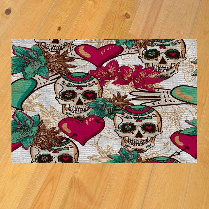 Skull Area Rugs: Pin By Lisa Hogarth On Sugar Skull Home