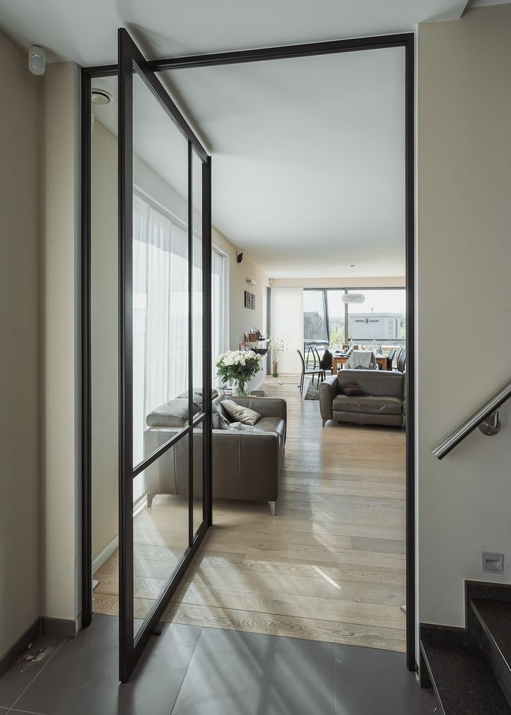 Pivoterende Kaderdeur Aluminium Glazen Deur Deur Woonkamer Binnendeuren