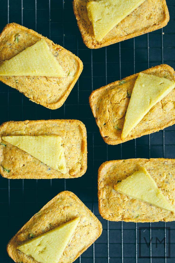 #Vegan Petite Jalapeño Cornbread Loaves | Vegan Miam #recipe #vtopian #cornbread