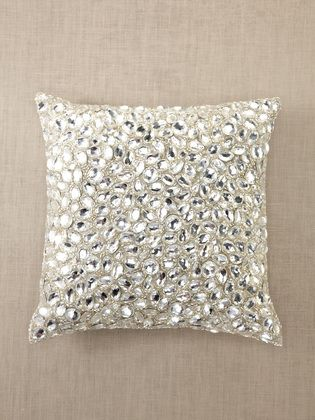 I am in LOVE with uniquely embellished pillows. My day bed is the official pillow holder from all my travels. Just spotted this on GILT and I LOVE it! So jewel like!